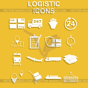 Logistics clipart simple.