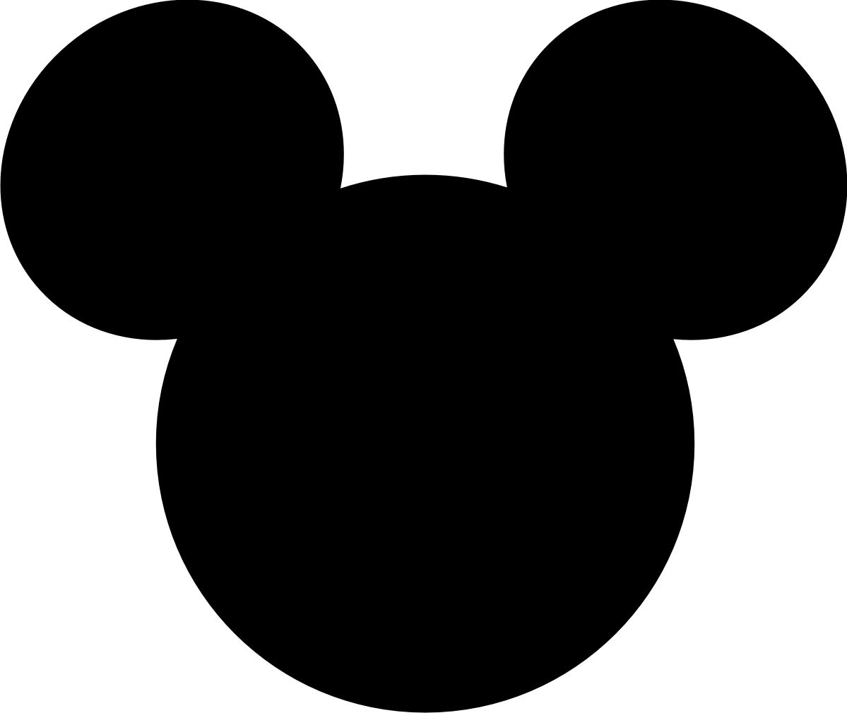 mickey mouse head clipart cut out