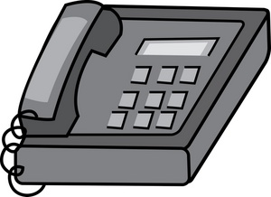 Clipart phone office.