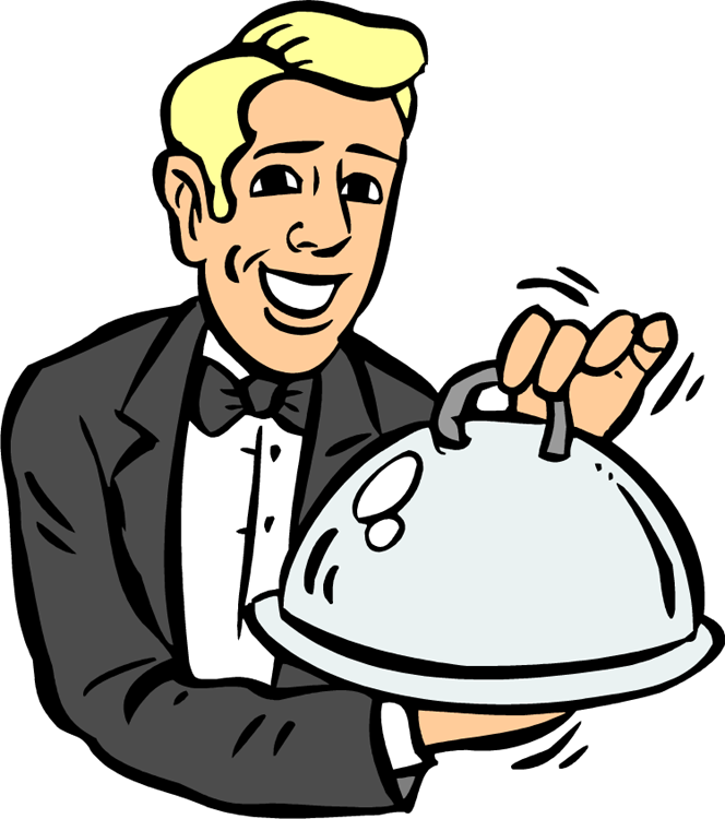 waiters clipart restaurant