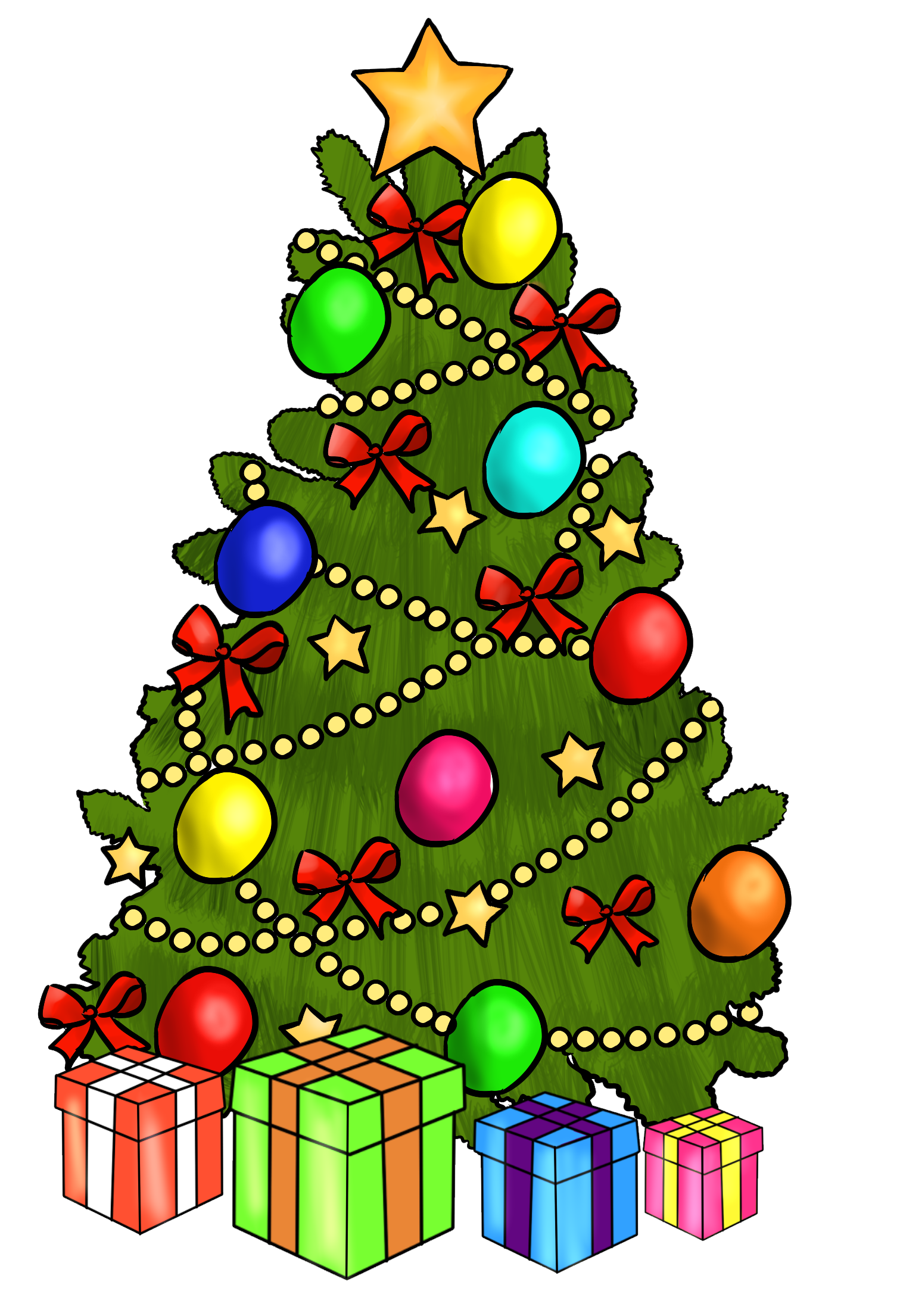 Holly clipart tree.