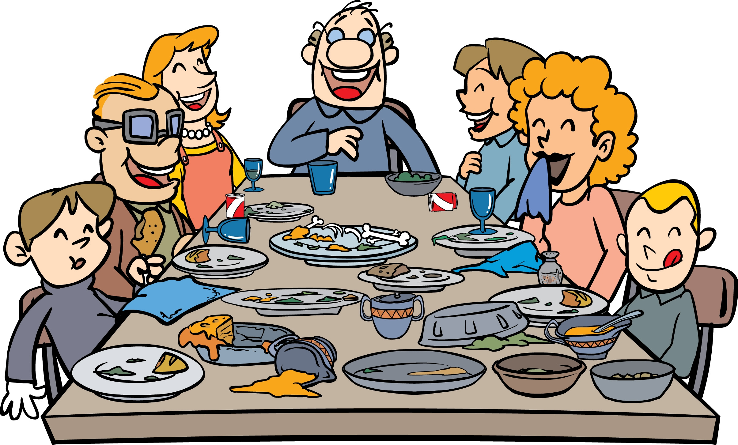 Pastor clipart family meal.