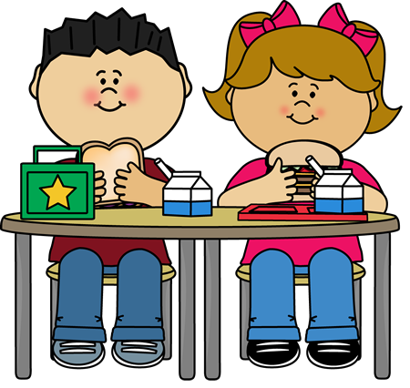 eating breakfast clipart cafeteria