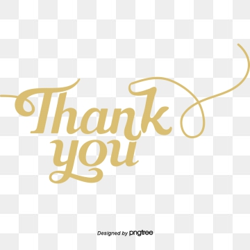 clipart thank you gold