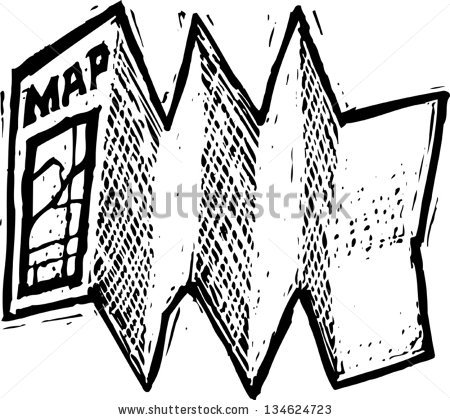 Map clip art black and white.