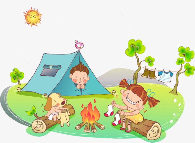 Map clip art camping.