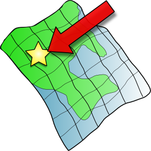 location clipart route map
