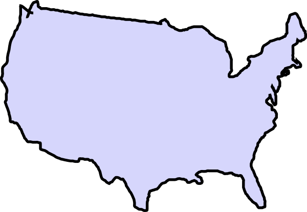 united states clipart outline