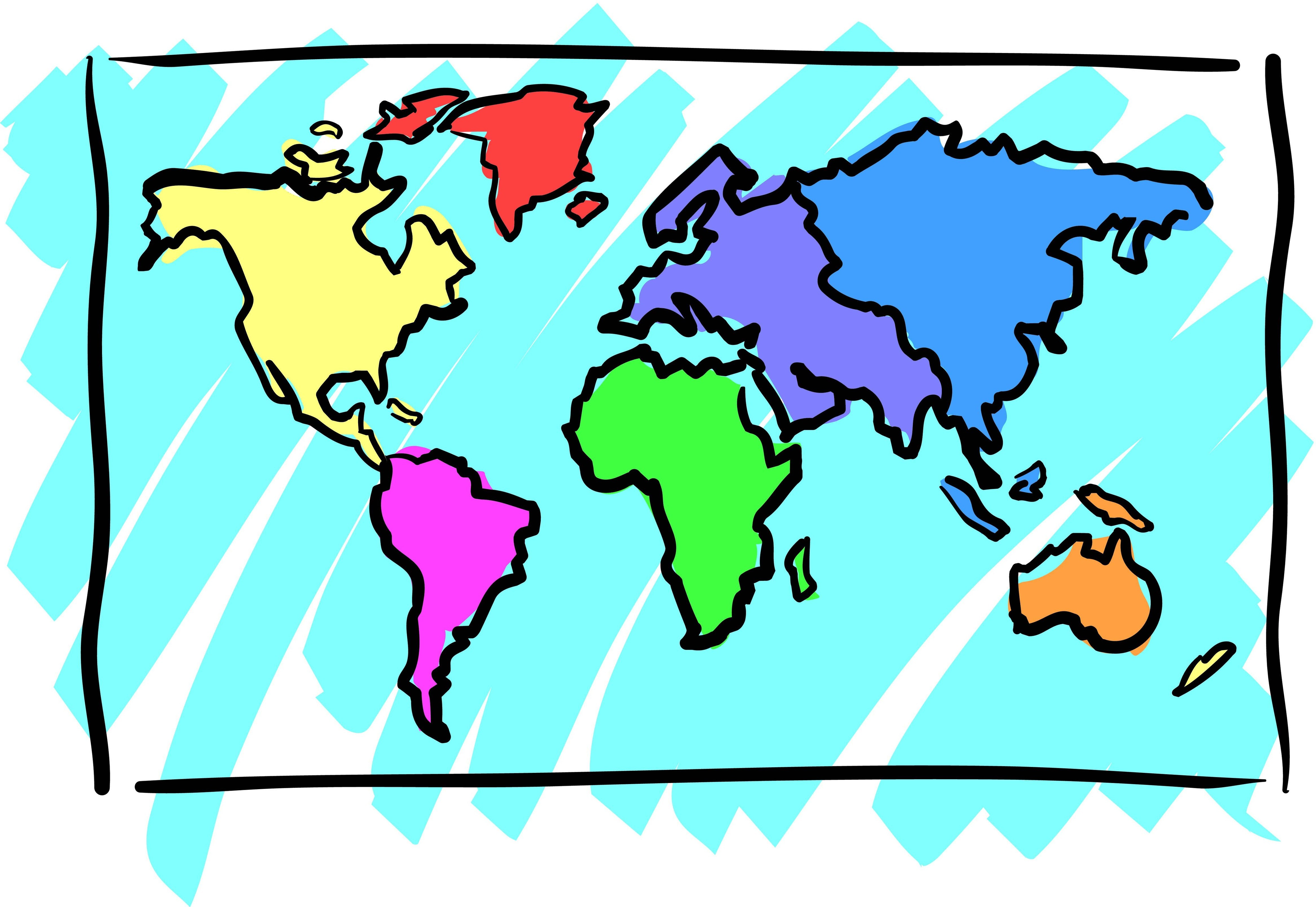 Map clip art powerpoint.