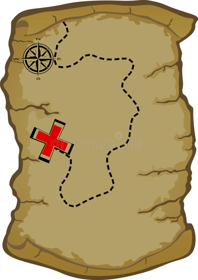 Map clip art scavenger hunt.