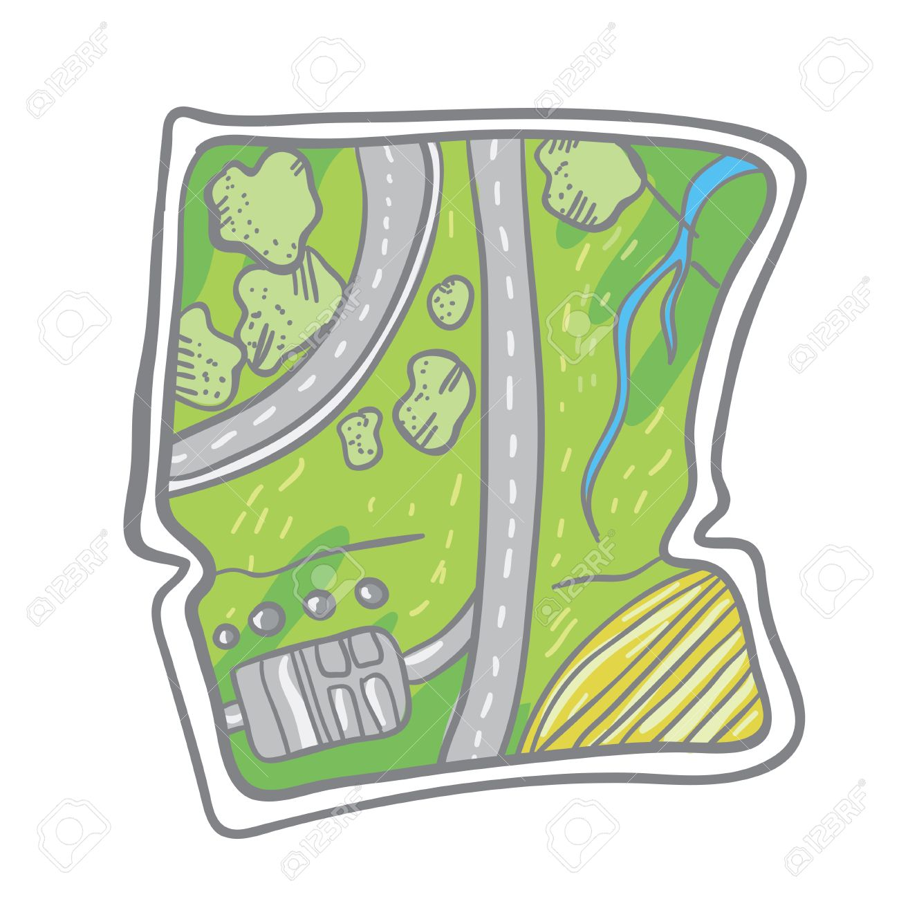Map clip art simple.