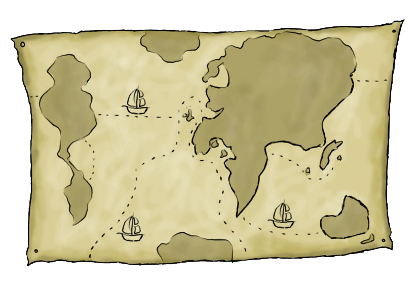travel clipart map