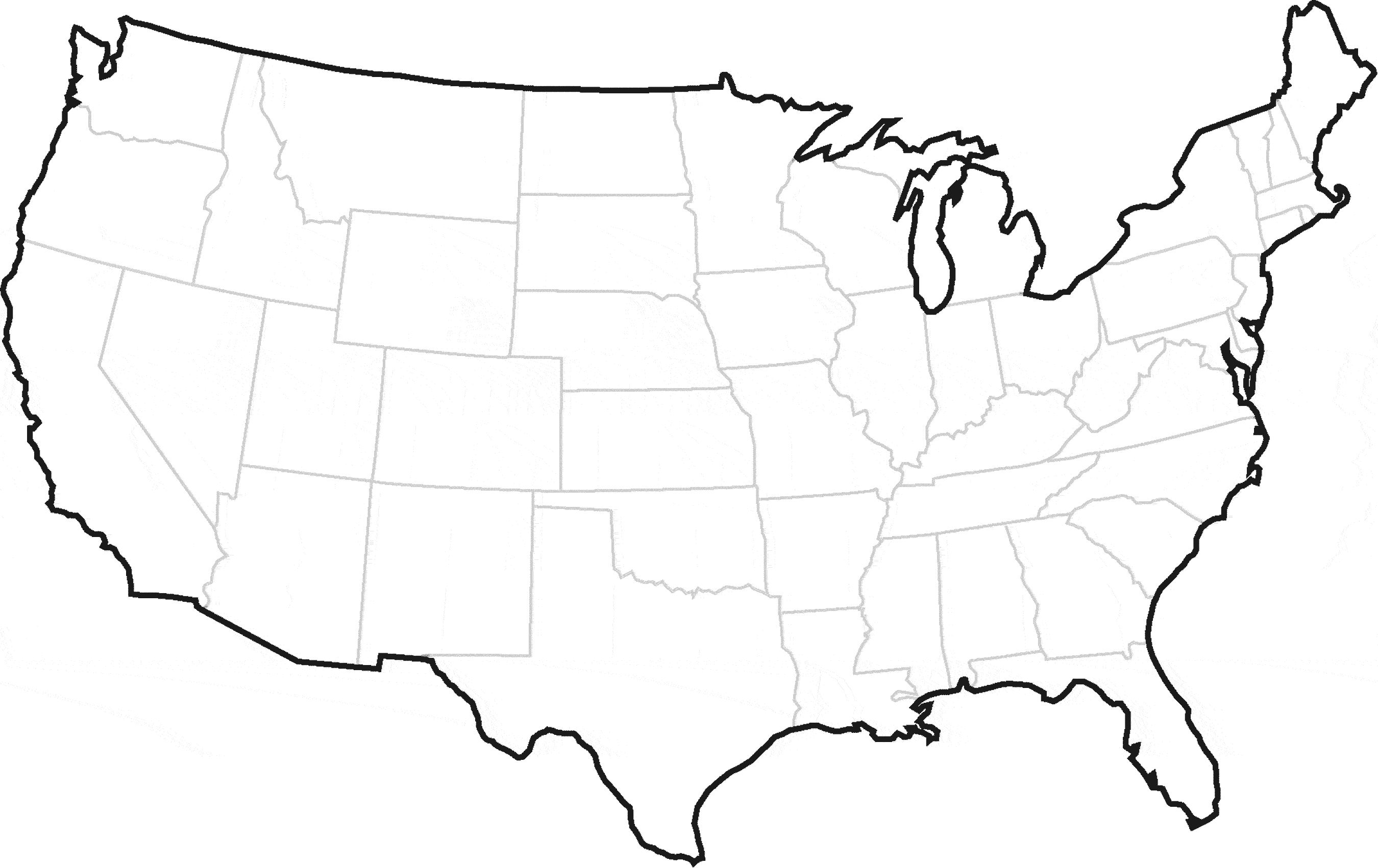 united states clipart blank