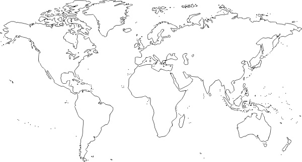 Map clip art world map.