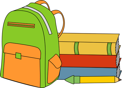 backpack clipart colorful