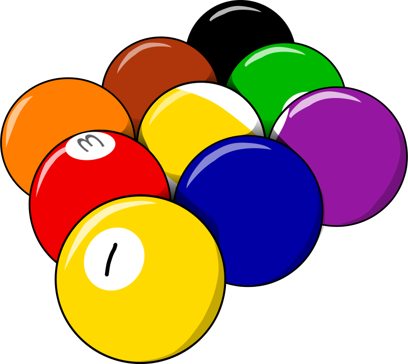 marbles clipart 9 ball