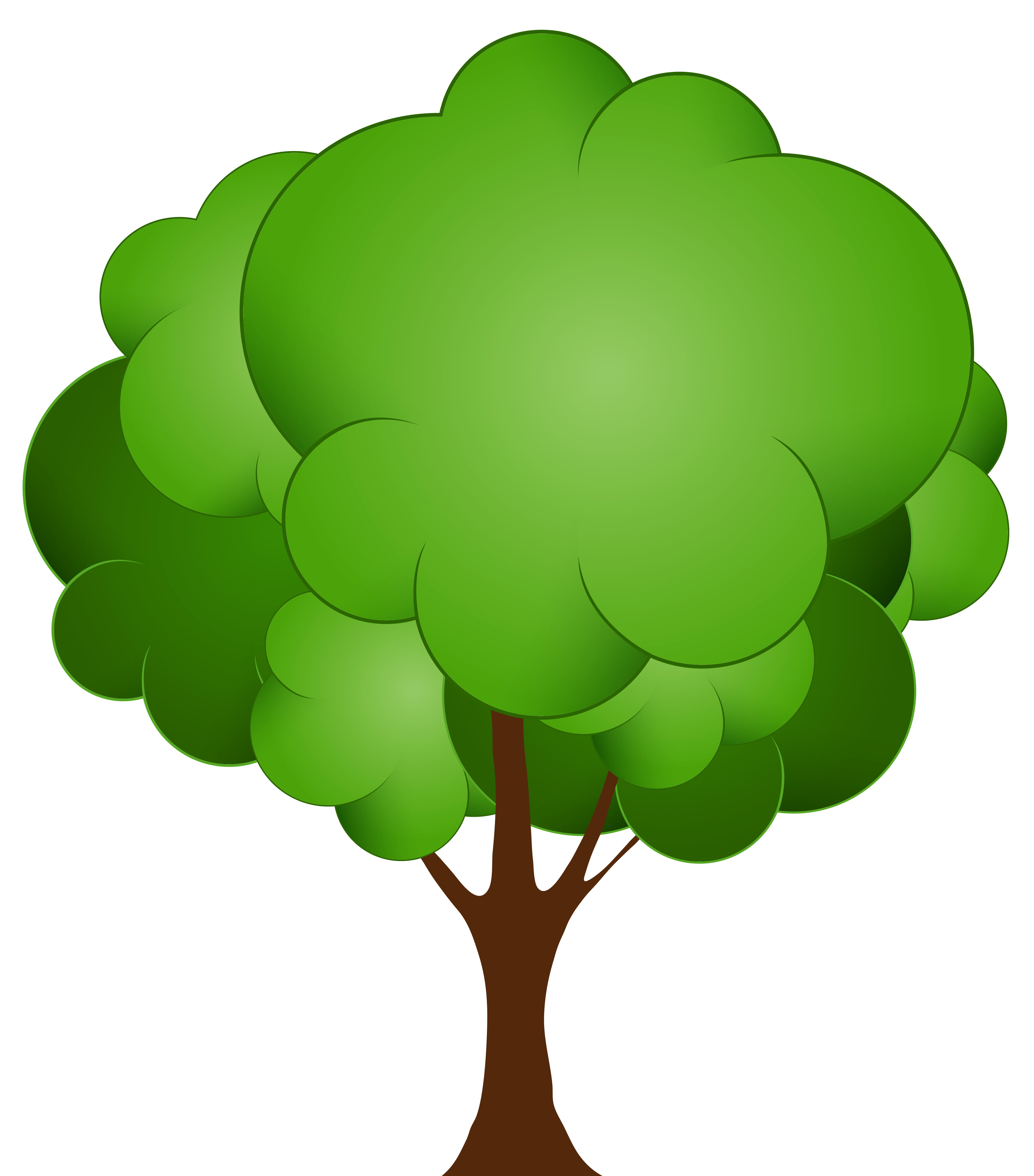 clipart trees cartoon