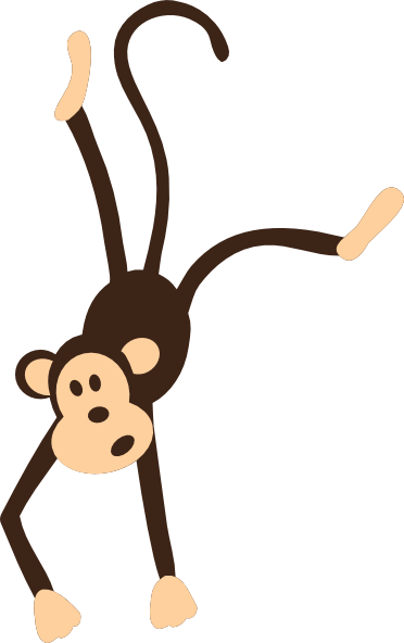 curious george clipart hanging