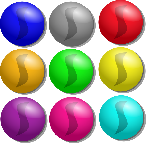 marbles clipart ball clear