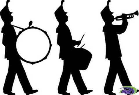 Marching band clipart color guard.