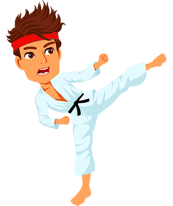Martial arts clipart animated.