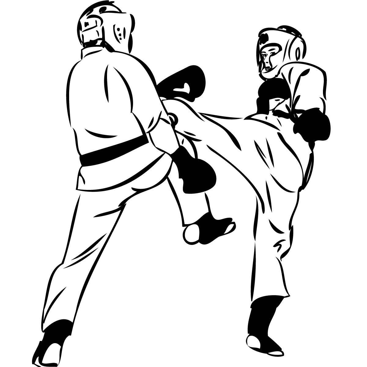 Martial arts clipart fighter.