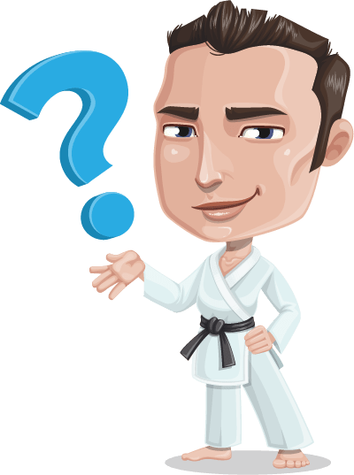 Martial arts clipart karate man.