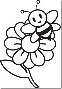 May flowers clip art black and white.