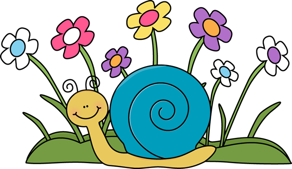 snail clipart may flower