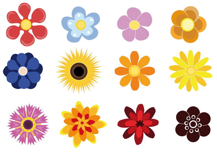 flowers clipart cute
