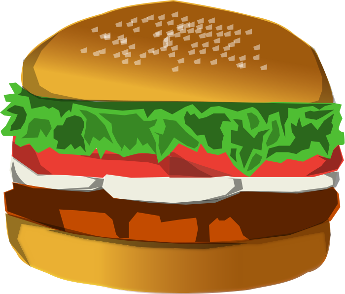 Meat clipart cheeseburger.