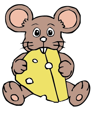 clipart mouse cheese