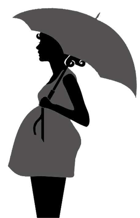 pregnant clipart umbrella
