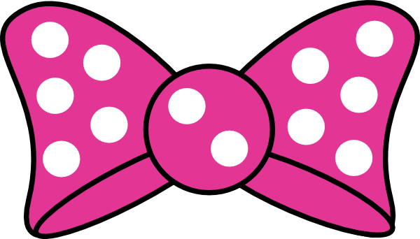 minnie mouse bow clipart pink