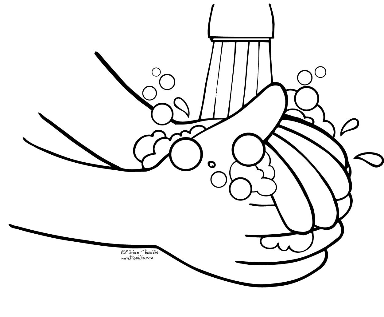 wash hands clipart white