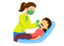 Dentist clipart lady.
