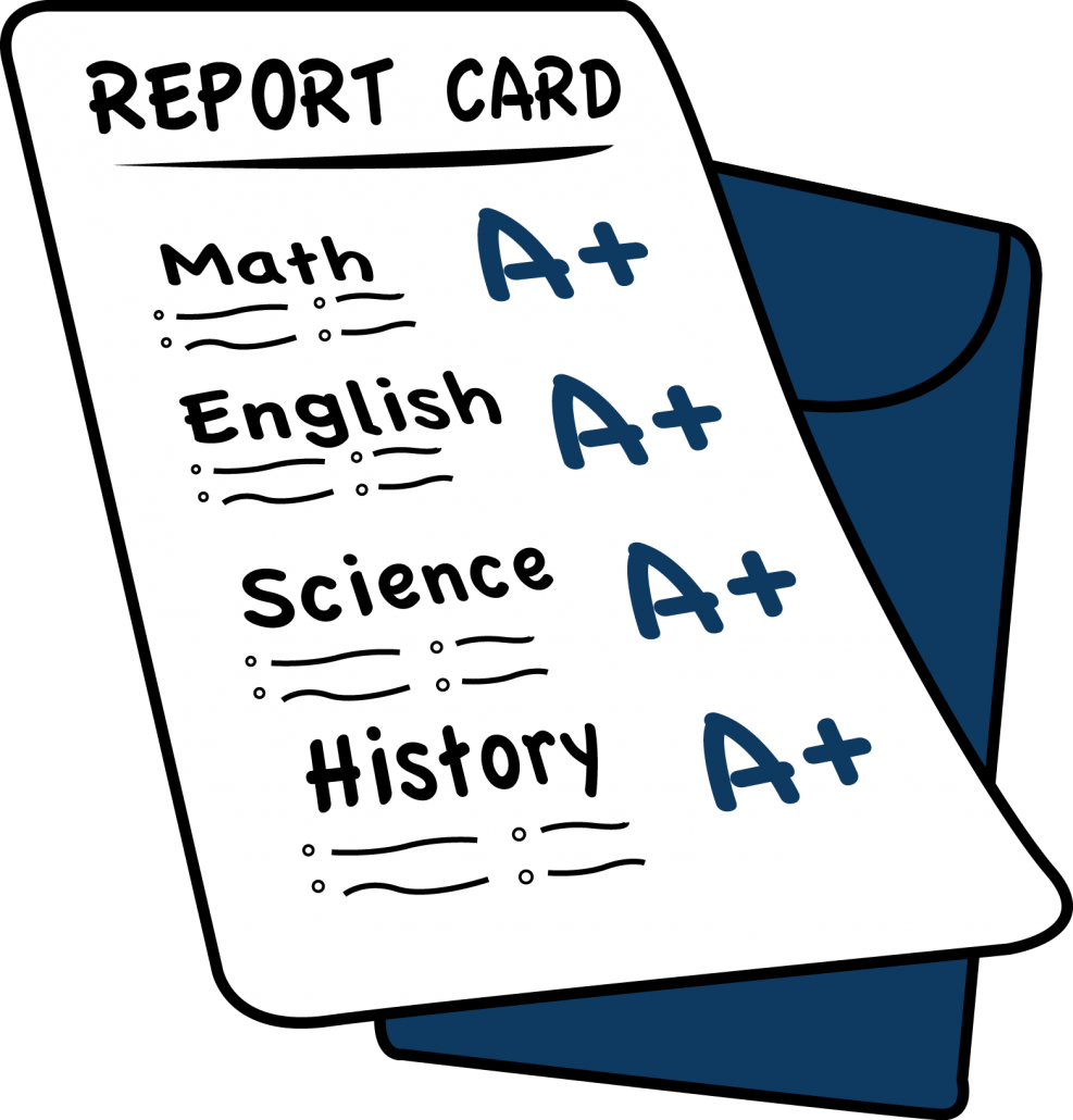Midterm clipart elementary report card.