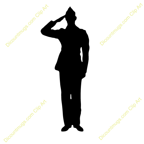 military clipart silhouette
