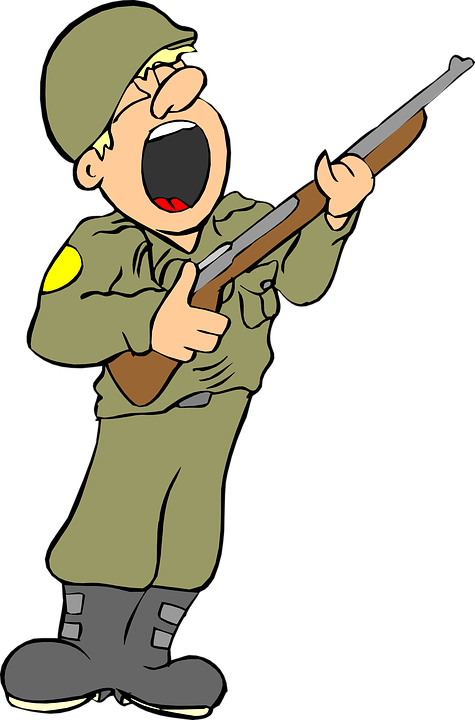 Military clip art soldier.
