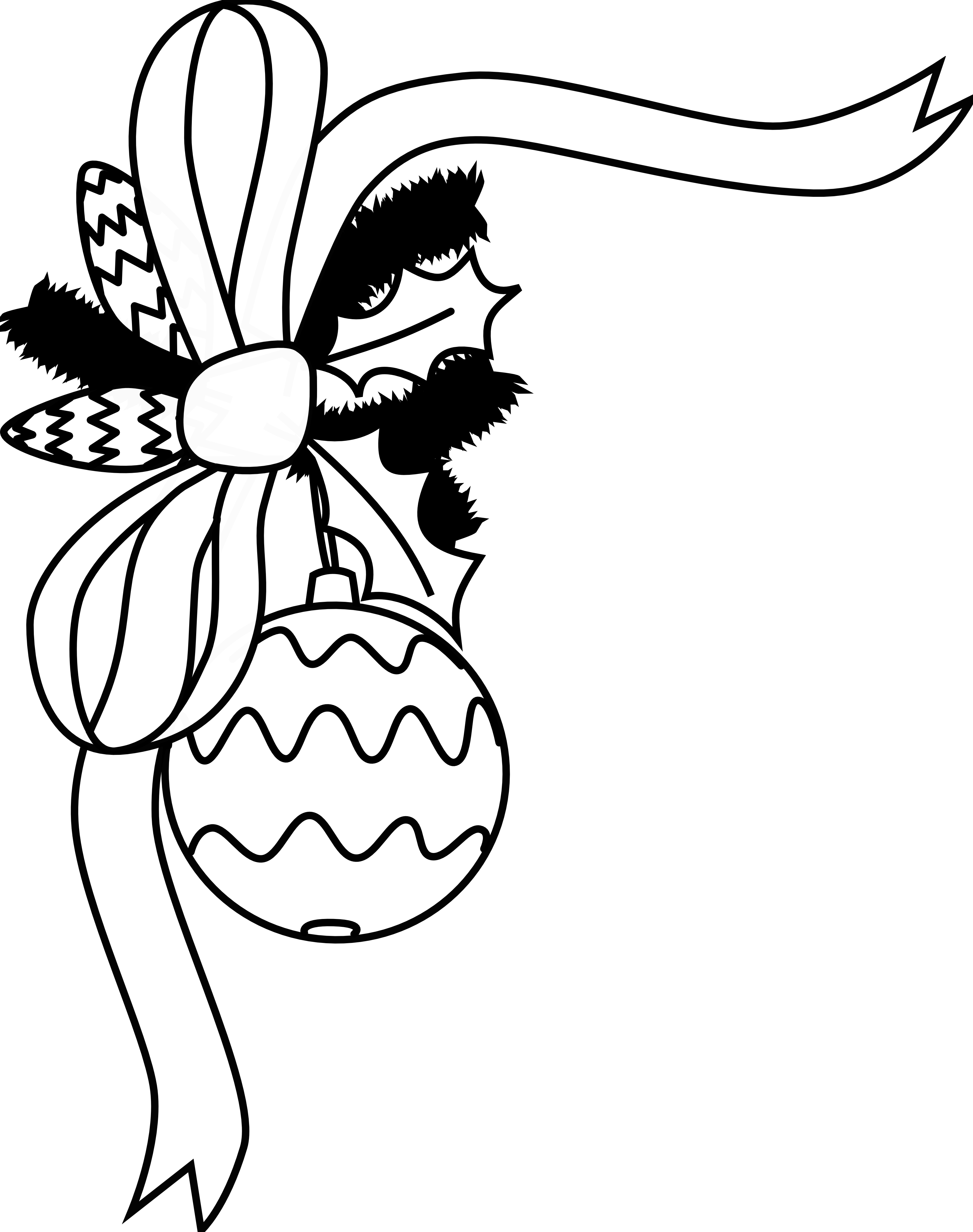 christmas clipart black and white elegant