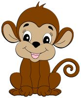 Monkey clipart collection.
