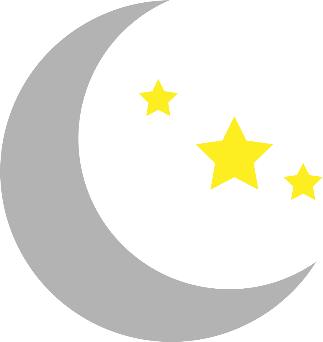 moon and stars clipart simple