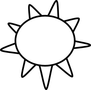 free black and white clipart sun