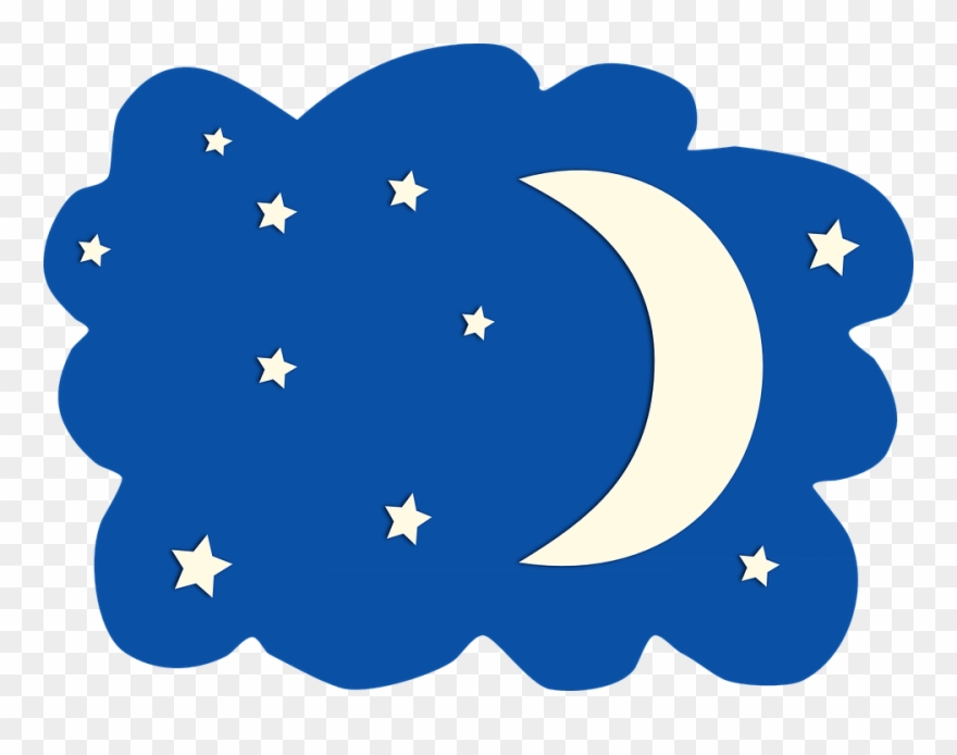 moon and stars clipart night