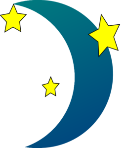 moon and stars clipart crescent