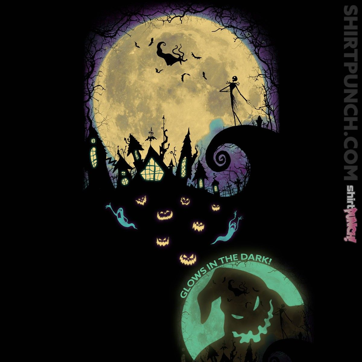 Moon clipart nightmare before christmas.