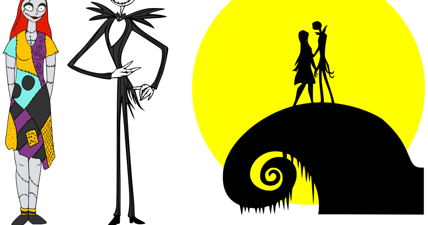 nightmare before christmas clipart vector