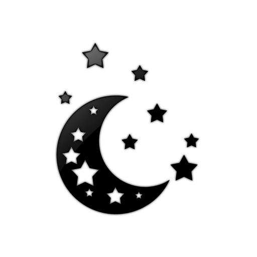 moon and stars clipart outline