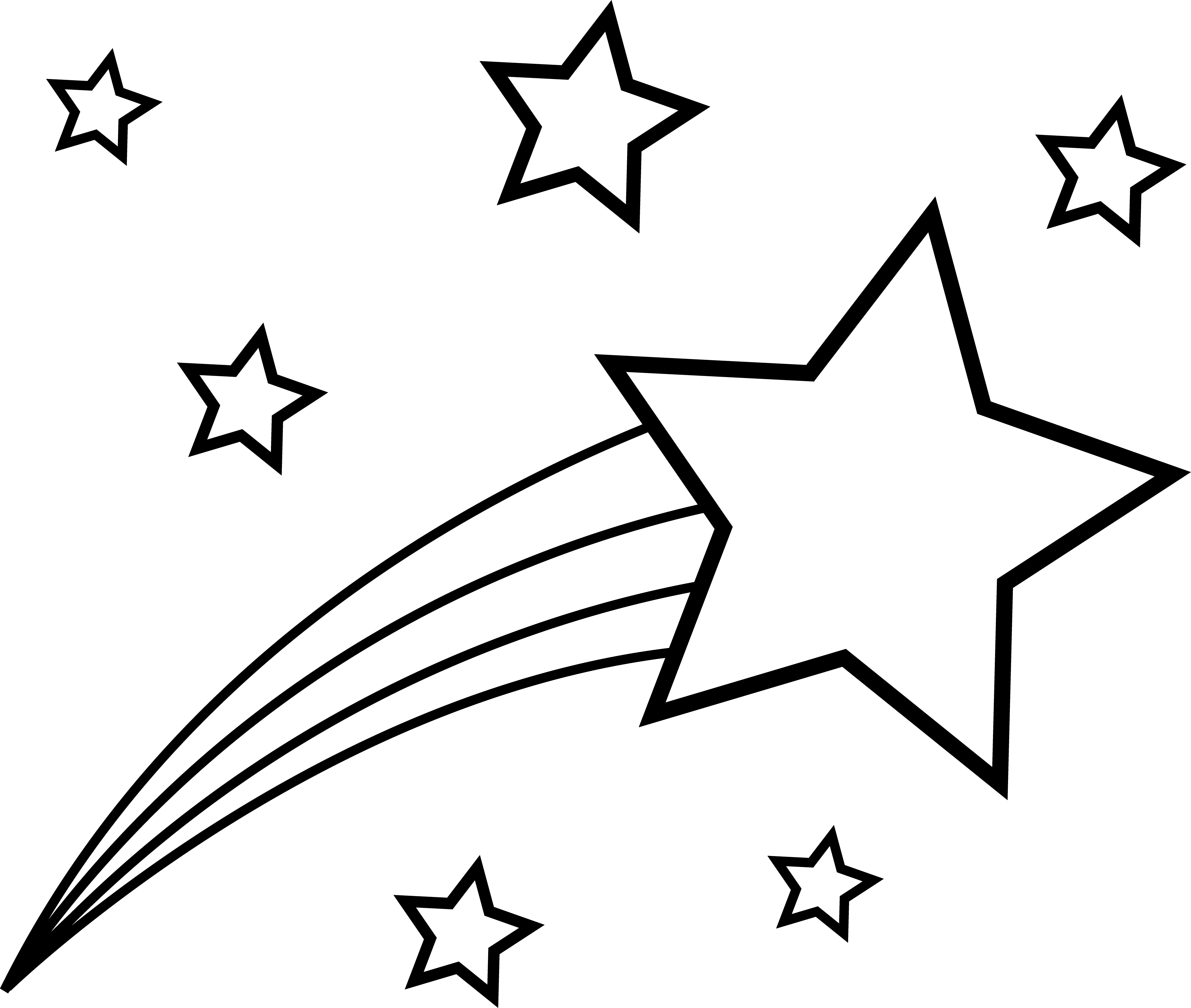 shooting star clipart space