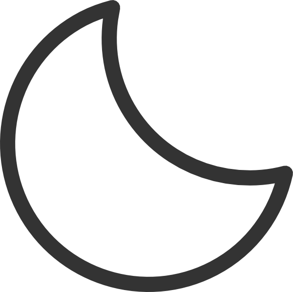 Moon clipart outline.